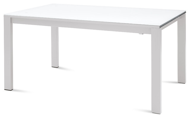 Galaxy 160 Rectangular Table White Glass Modern Dining Tables