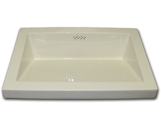 Rectangle Ceramic Sink - LD-48-100, Large Slide Sink. Available in white, off white, gloss or matte. Also can be custom finished to client specifications. Visit our website ot see more.