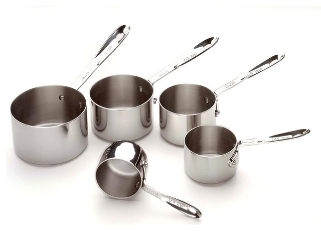 All Clad SS Measuring Cup Set contemporary-measuring-cups