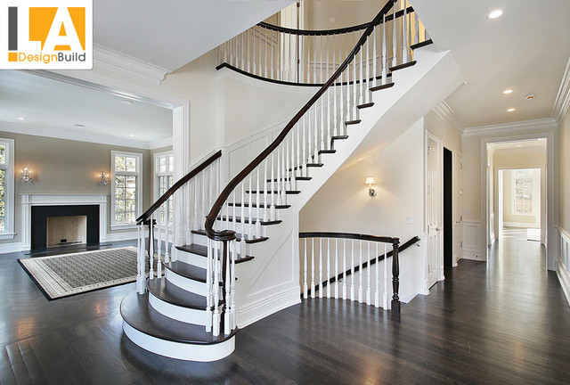 Living room - Living room design with stairs ...