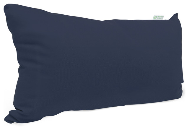 Outdoor Navy Blue Solid Small Pillow Modern Outdoor