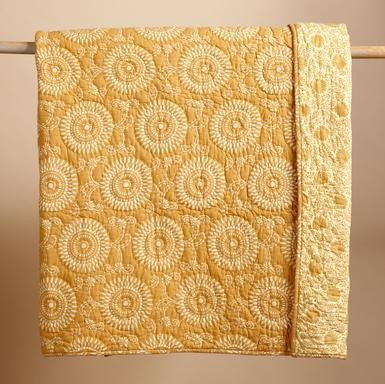 Uma Gold Quilt - Traditional - Quilts And Quilt Sets - by ...