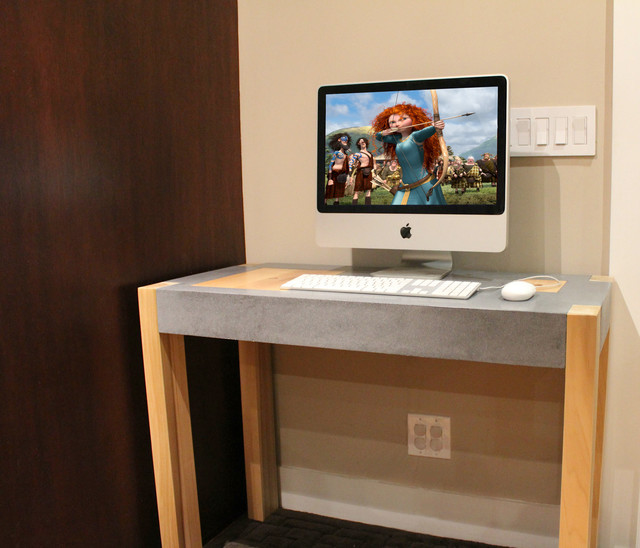 Concrete Top Vanity Desk : Computer desk modern desks and hutches los angeles