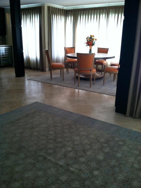 La jolla OCean Front Condo contemporary-dining-room