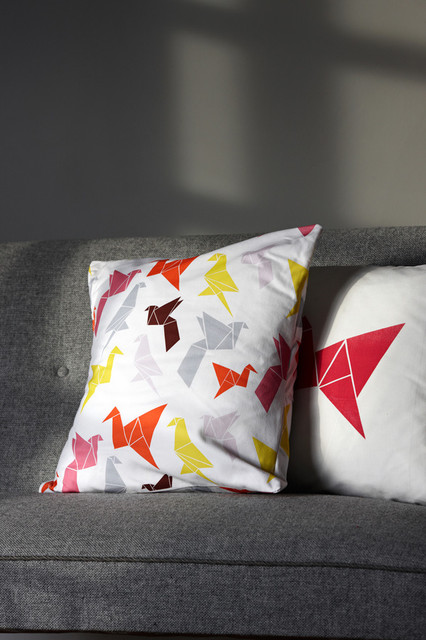 Origami Pillow modern pillows