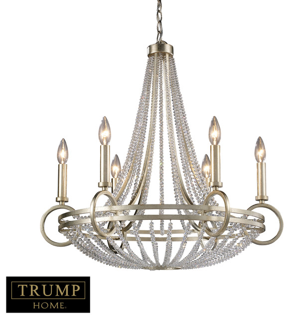 New York 6-Light Chandelier in Renaissance Silver contemporary-chandeliers