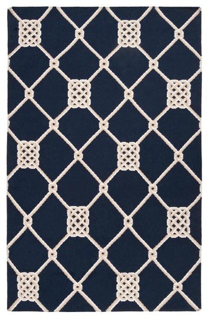 Celtic Knot Rope Lattice Wool Dhurrie Rug rugs
