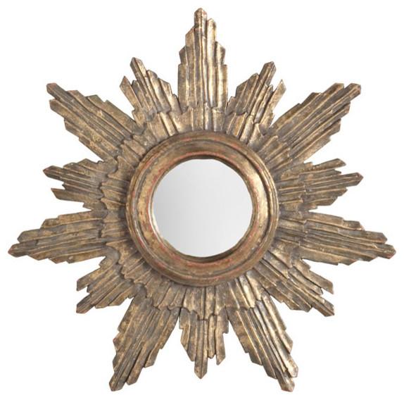 Handpainted Halo Sunburst Mirror traditional-mirrors
