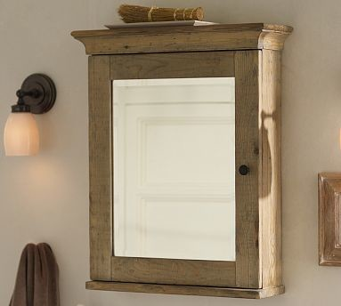 Mason Reclaimed Wood Medicine Cabinet Wall Mount Wax