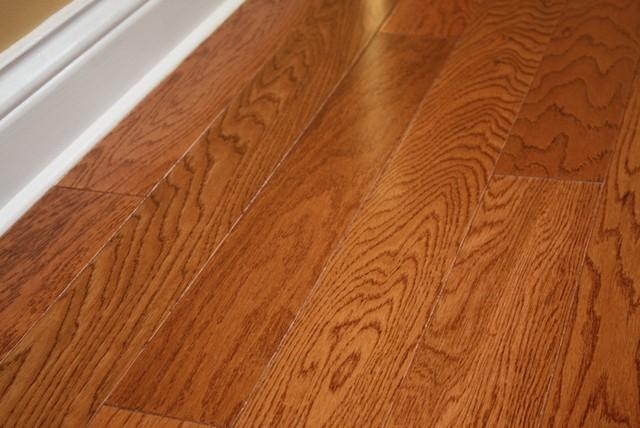 "Oak Butterscotch Lincoln 3/8 x 3-1/2"" Engineered Hardwood Flooring"