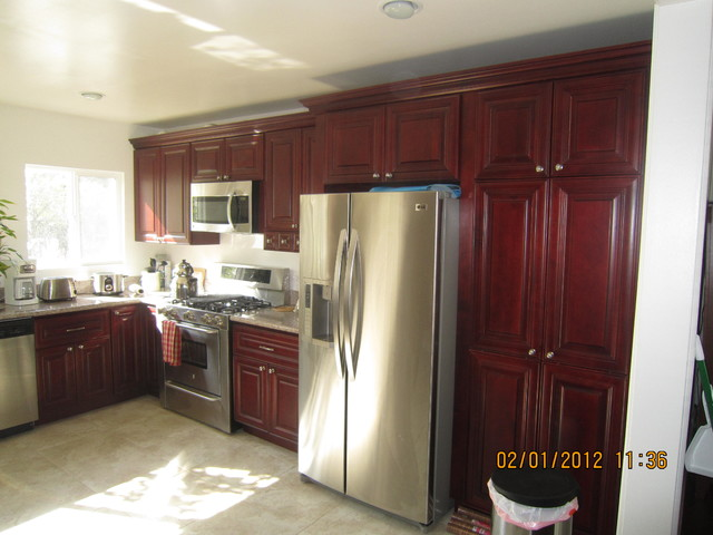 O'Neil Cabinets Cherry - Kitchen Cabinetry - orange county - by Belle Choices