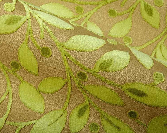 Lagoon Upholstery Fabric in Celery - Lagoon Upholstery Fabric in Celery is a green, soft, cut-pile floral print with a slight sheen. Perfect for upholstering projects and pillows, this happy fabric is heavily discounted. The beige background has a smooth yet hardy texture, while the cut-pile floral pattern creates a soft, inviting feel. Darker shades of green create a dimensional look, bringing this nature inspired print to life. The modern colorway breathes new life into this otherwise traditional pattern, making this fabric versatile and functional!