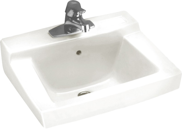 ... Wall-Mount Sink, White - Modern - Bathroom Sinks - by PlumbersStock
