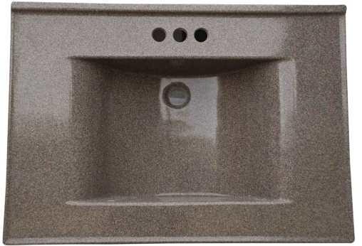 Premier 261351 Cultured Marble Vanity Top, 22 x 37, Cappuccino modern-bathroom-vanities-and-sink-consoles