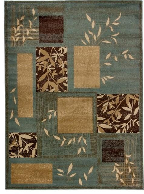 "Barclay Hannover Light Blue 5'3"" x 7'3"" Infinity Home Area Rug (54736) modern-rugs"