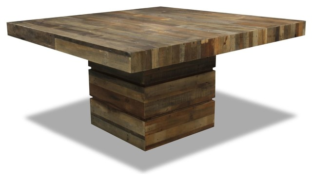 Tahoe II Square Dining Table Rustic Dining Tables Los Angeles
