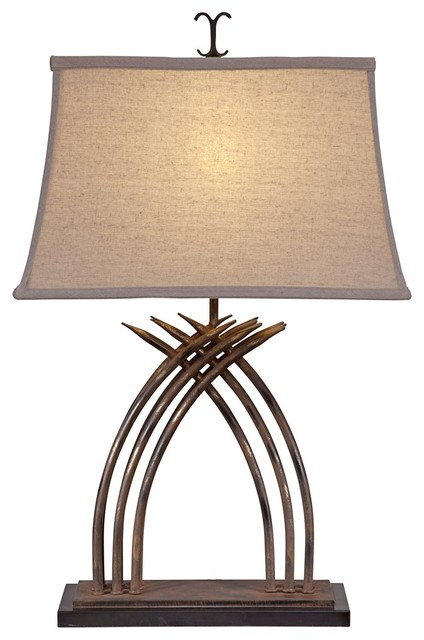 Contemporary Zulu Metal Table Lamp contemporary-table-lamps