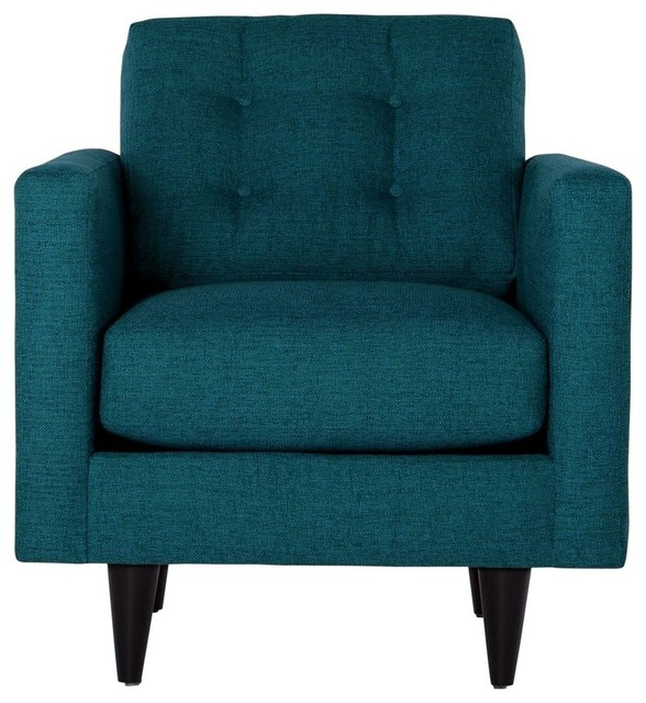 The Logan Chair, Chicago Blue midcentury-armchairs-and-accent-chairs
