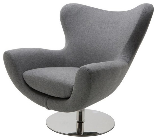 fortable Lounge Chair with High Polish Stainless Steel Swivel Base Moder
