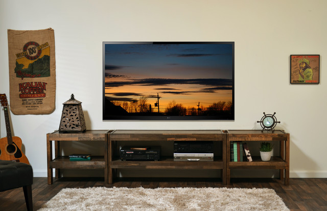 Reclaimed Wood Entertainment Center - presEARTH Spice - Rustic - Furniture - san diego - by ...