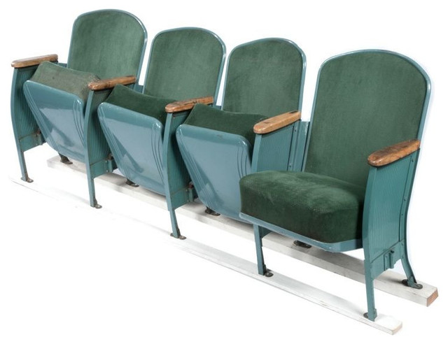 sold out vintage velvet theater seats in forest green