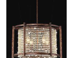 Dark Brown 4-light Crystal Pendant | Overstock.com