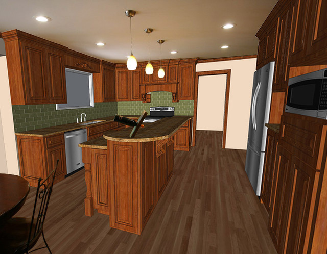 Custom Kitchen C traditional rendering