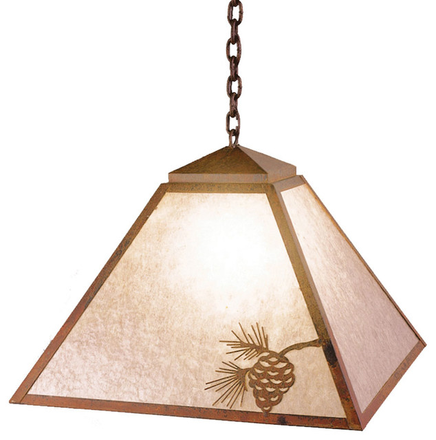 Swag mission rustic pendant lighting by steel for Houzz rustic lighting