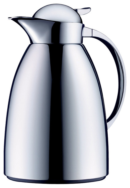 Alfi Achat Albergo Carafe With Integrated Tea Filter, Chrome contemporary-serveware