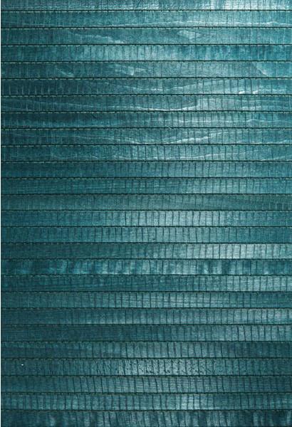 Mayumi Aqua Grasscloth Wallpaper asian-wallpaper