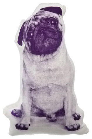 Areaware Pug Mini Cushion contemporary pillows