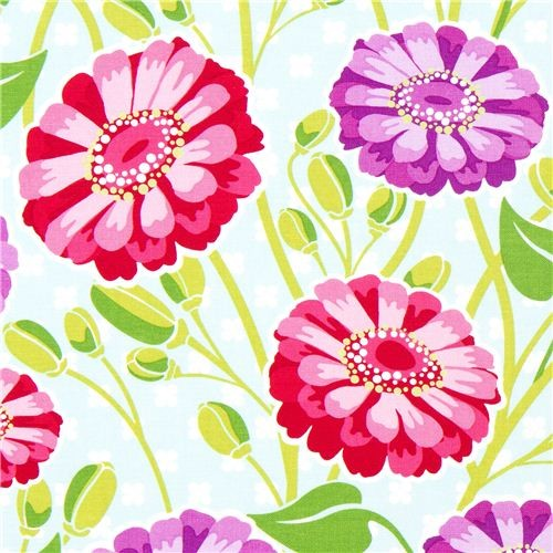 Michael Miller fabric with big flowers by Patty Young fabric