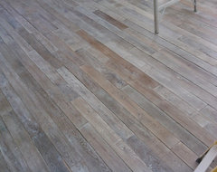 Antique Reclaimed French White Oak flooring eclectic-hardwood-flooring