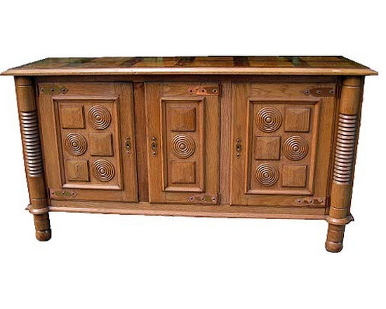 Modern Oak Sideboard with Copper Accents - http://www.rtfacts.com/shop/cabinetry/modern-oak-sideboard-copper-accents/