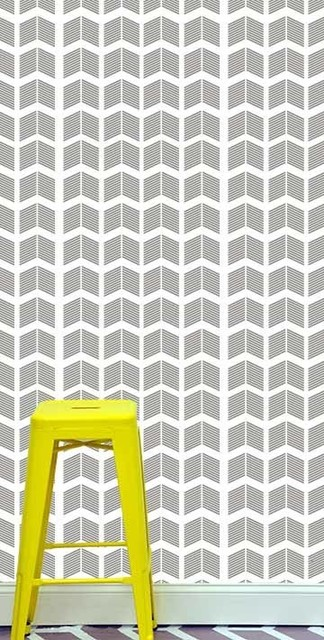"""24"""" x 48"""" Striped Arrows Removable wall paper tile - wall paper - removable wall modern-wallpaper"""