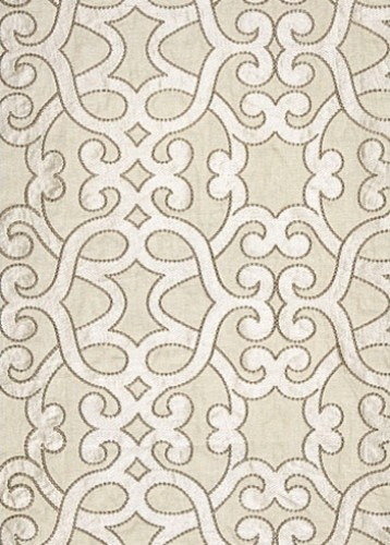 Amboise Linen Embroidery Fabric, Oyster transitional-fabric