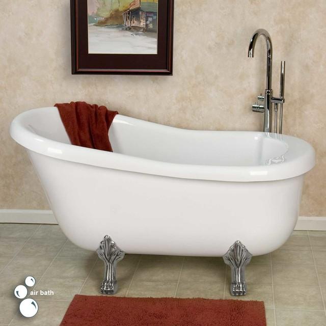 Pearson acrylic clawfoot air tub contemporary bathtubs for Acrylic clawfoot tub reviews