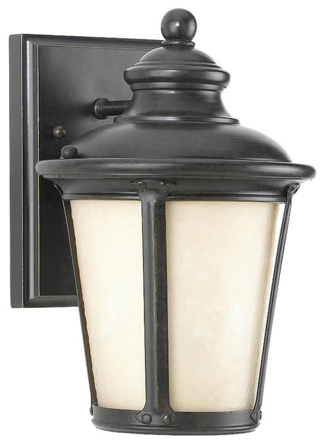 Sea Gull Lighting 88240D-780 Cape May Burled Iron Outdoor Wall Sconce transitional-outdoor-wall-lights-and-sconces