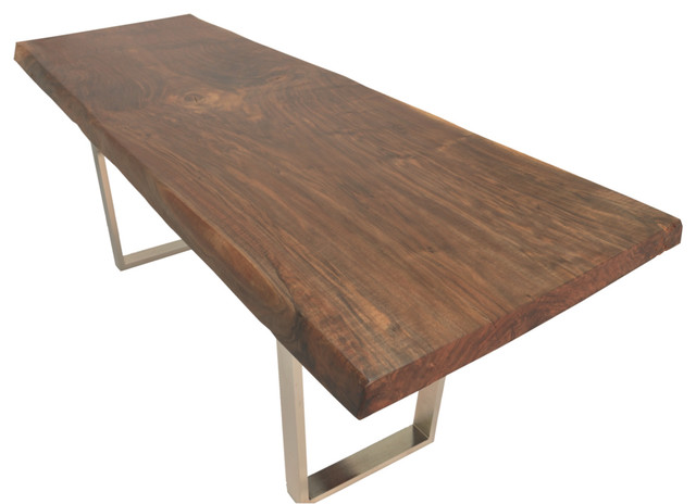 Live Edge Walnut Dining Table Metal Base Contemporary  : contemporary coffee tables from houzz.com size 640 x 464 jpeg 51kB