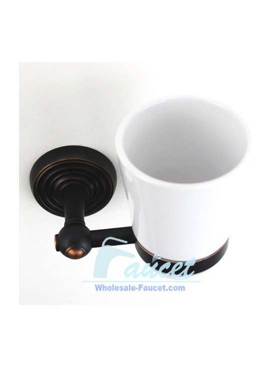 Oil Rubbed Bronze Toothbrush Tumbler Holder - ●Oil Rubbed Bronze Toothbrush Tumbler Holder K-113