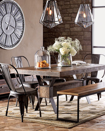 Industrial Dining Table traditional-dining-tables