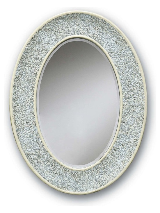 "Currey & Company Eos Mirror in Aqua - The Currey & Company Eos Mirror Features an Aqua Finish. Product Dimensions: 31"" High By 23"" Wide. Extends 3"" From Surface. Approximate Item Weight: 18 Lbs."
