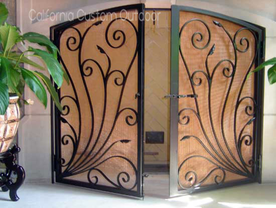 Architectural Iron Fireplace Screen Fireplace Screens San Francisco By California Custom