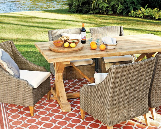 Sutton Collection Outdoor Dining - Our Sutton Collection is a relaxed blend of warm textures and sophisticated style. (Photo: Ballard Designs)