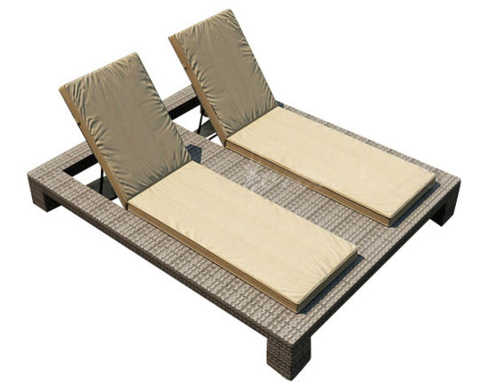 Forever Patio - Hampton Double Adjustable Chaise Lounge, Heather Wicker and Tan Cushions - The Forever Patio Hampton Patio Wicker Double Adjustable Chaise Lounge with Tan Sunbrella cushions (SKU FP-HAM-DACL-HT-BE) blends comfort, style and function, creating a perfect relaxation spot for two. The UV-protected, heather wicker sports a flat woven design, creating a contemporary look with clean lines. Each strand of this outdoor wicker is made from High-Density Polyethylene (HDPE) and is infused with its rich color and UV-inhibitors that prevent cracking, chipping and fading ordinarily caused by sunlight. This outdoor chaise is supported by thick-gauged, powder-coated aluminum frames that make it more durable than natural rattan. This lounger includes fade- and mildew-resistant Sunbrella cushions for added comfort in your outdoor space.