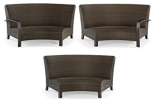 Del Mar 3 Pc Curved Sofa Set Frontgate Contemporary