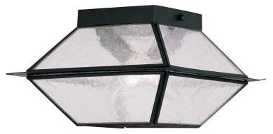Livex Mansfield 2175-04 2-Light Outdoor Ceiling Mount in Black modern-ceiling-lighting