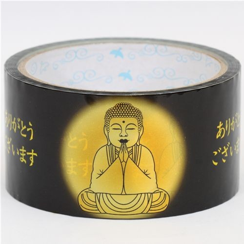big black Deco Tape with golden Buddha Japan home-decor
