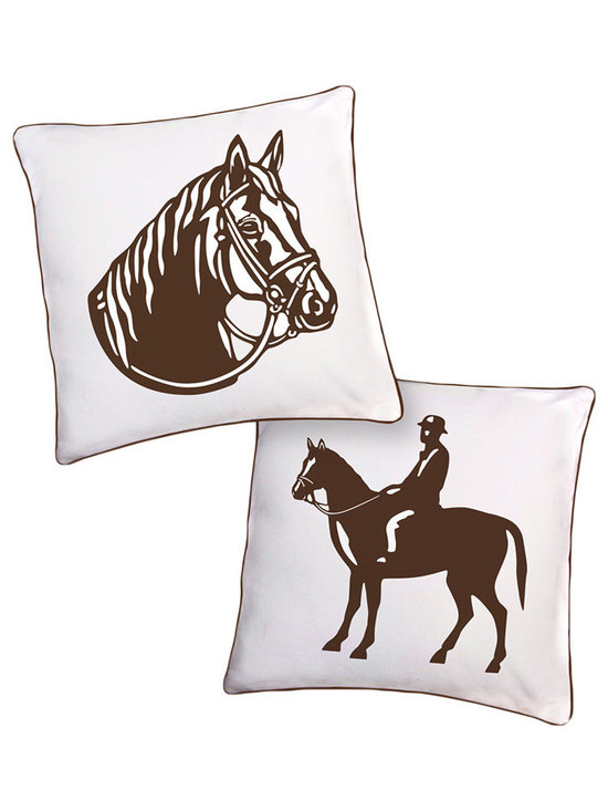 Naked Decor Brown Stallion Reversible Pillow