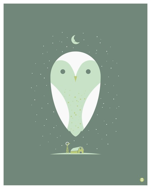 Barn Owl Large Limited Edition Print contemporary-originals-and-limited-editions